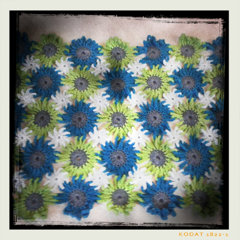 Flower Pattern, before filling in all the gaps and loops.
