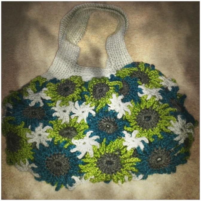 Crochet Flower Purse Project
