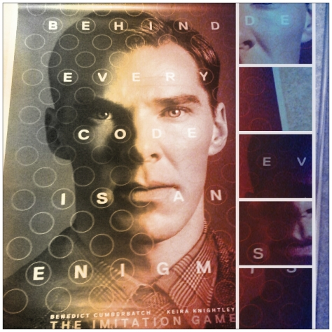 Thanks to the Imitation Game UK twitter account, I won this enormous poster of Cumberbatch as Turing.  I love twitter!