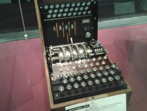 A real Enigma Machine.  From my visit to Bletchley  Park a couple of years ago.