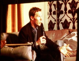 Benedict Cumberbatch's talk. Taken from the big screen - low quality - I need a better camera for future cons!