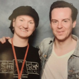 Me, with the very sweet Andrew Scott.