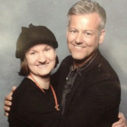 Here I am, with the cuddly Rupert Graves (I did ask before rushing in for the hug!)