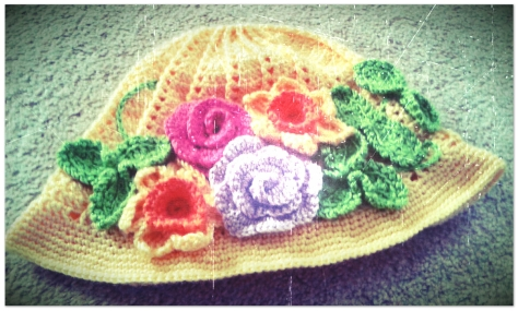 Finished Spring-Time-Themed Spiral Cloche Hat