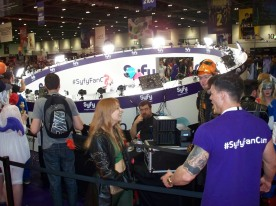 """The SyFy Channel """"Fan Cam"""" - a 360 degree camera rig, giving fans and cosplayers the chance to have a clever moving snapshot of them in mid-air; or other poses!"""