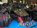 A newly unveiled Batmobile...