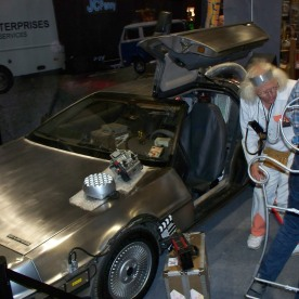 Delorian! And Doc Brown!