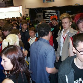 Randomly, I walked past Steven Moffat (Showrunner of both Doctor Who and Sherlock) who was there just as an attendee with his son Louis. That's the back of his head in the middle there... Honest!