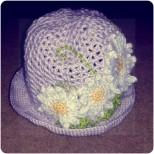 Daisy hat, left.