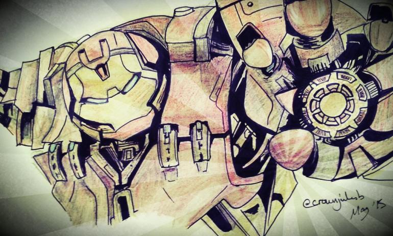 Hulkbuster Sketch, (c) @crownjulesb May 2015