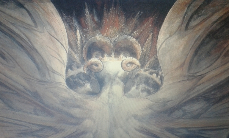 Extract from The Great Red Dragon painting by William Blake