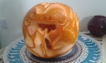 Red Dragon Pumpkin: Right 2.