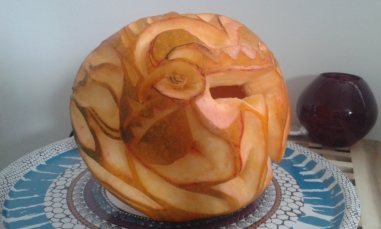 Red Dragon Pumpkin: Left 2.