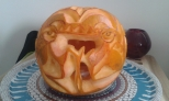Red Dragon Pumpkin: Centre.