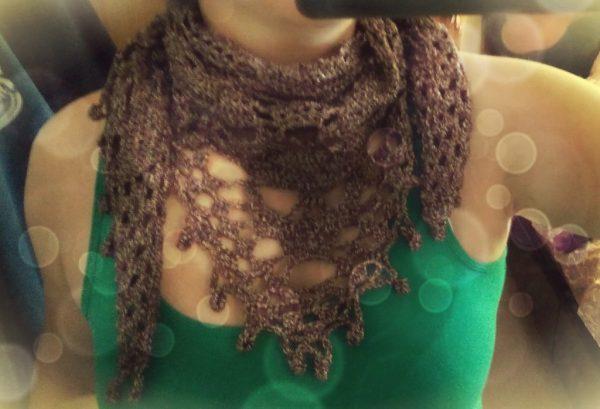 Skull Crochet Scarf