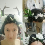Those are REAL Roe Deer antlers! This flower crown took me ages to make, and I'm quite proud of it!