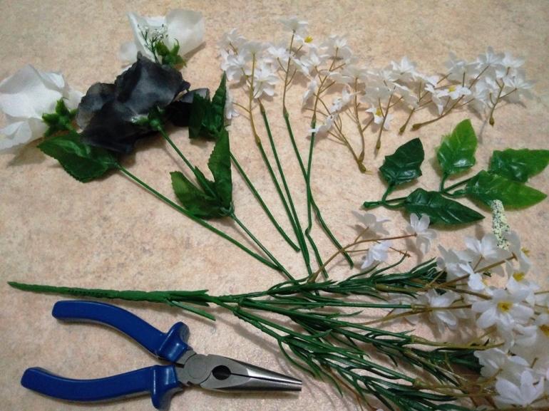 Cut Fake Flowers