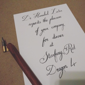 Calligraphic Invitation Gifts from me.