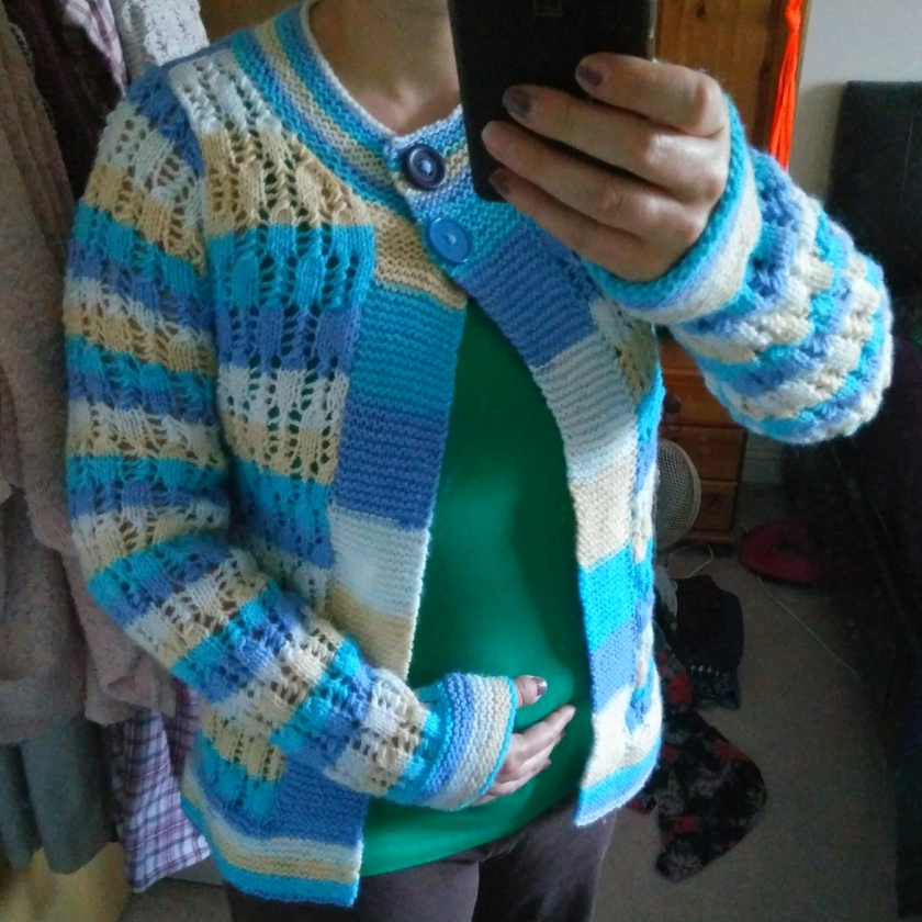 Knitted Striped Cardigan