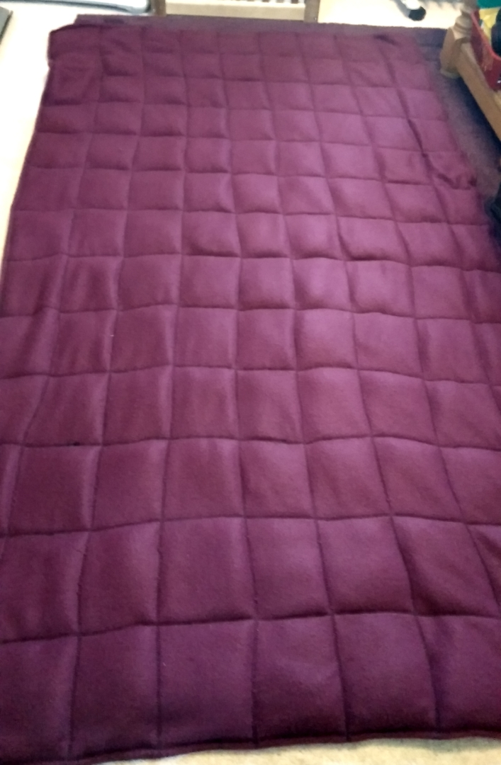 Finished sewn up weighted blanket.